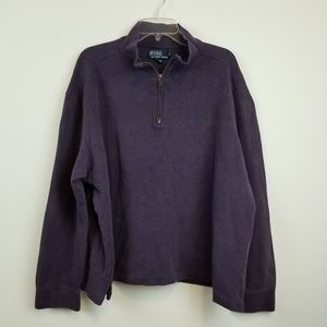 Men's Polo Ralph Lauren half zip purple sweater XL